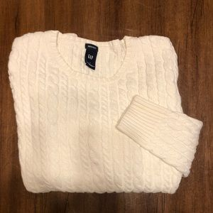 GAP Cream Cable-Knit Sweater